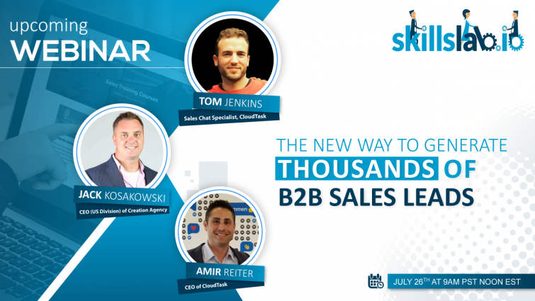 Upcoming Webinar: The New Way To Generate Thousands of B2B Sales Leads