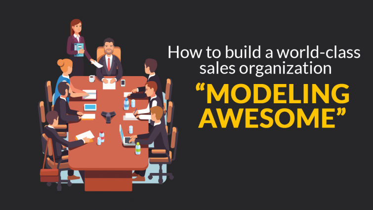 "How To Build A World-Class Sales Organization ""Modeling Awesome"""