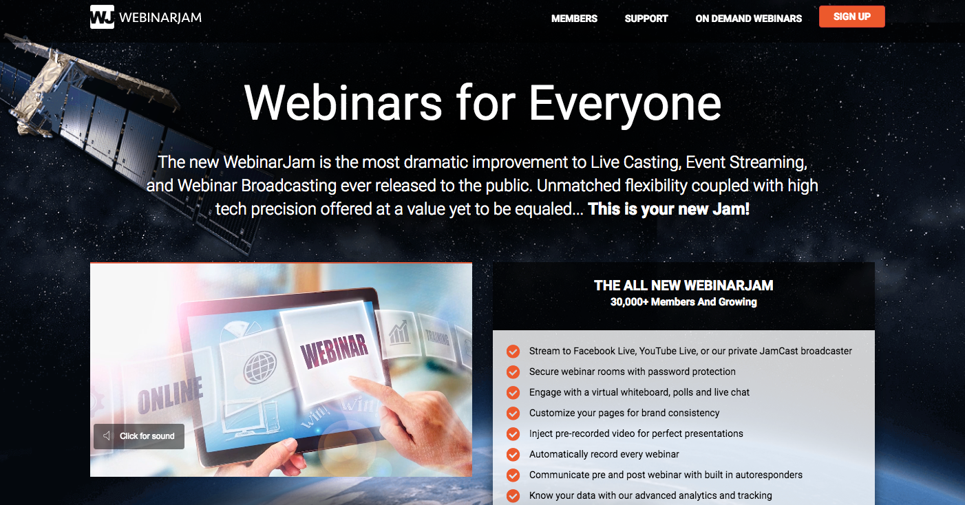 WebinarJam - Top Webinar Platforms