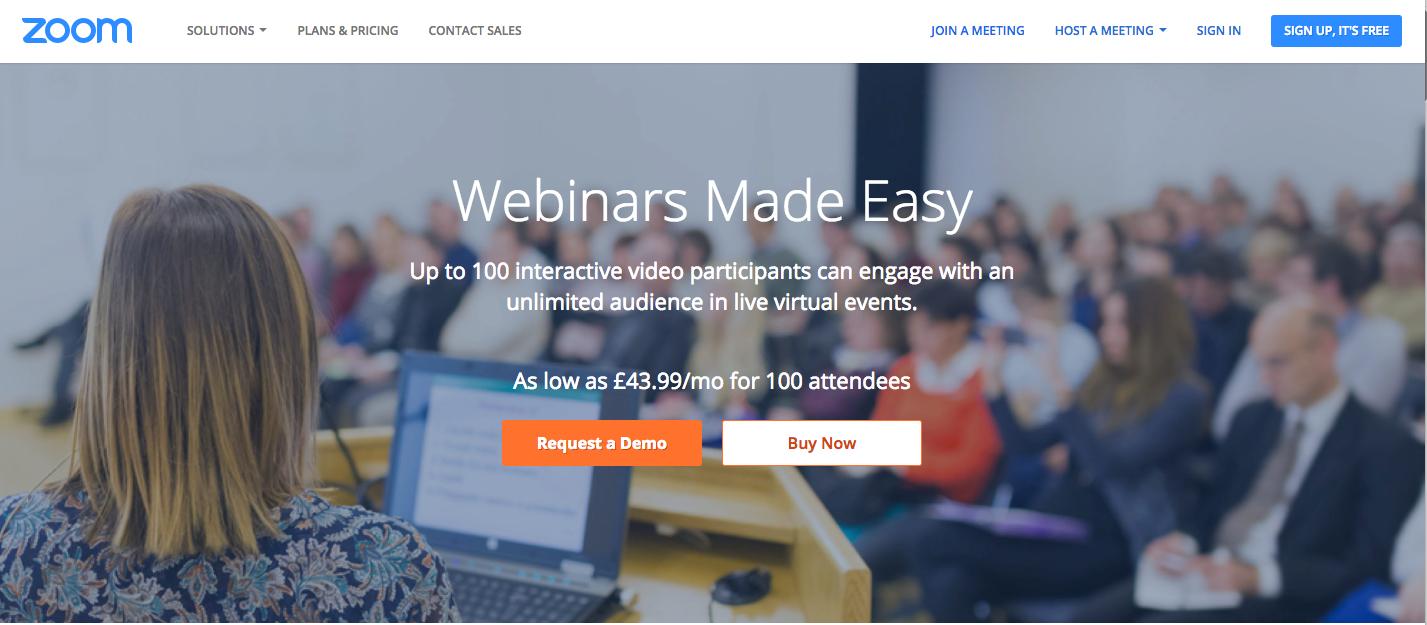 Zoom - Best Webinar Platforms