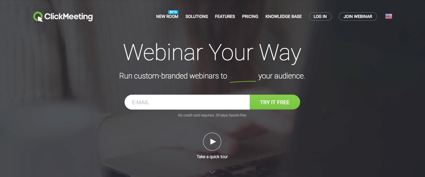 ClickMeeting - Best Webinar Platforms