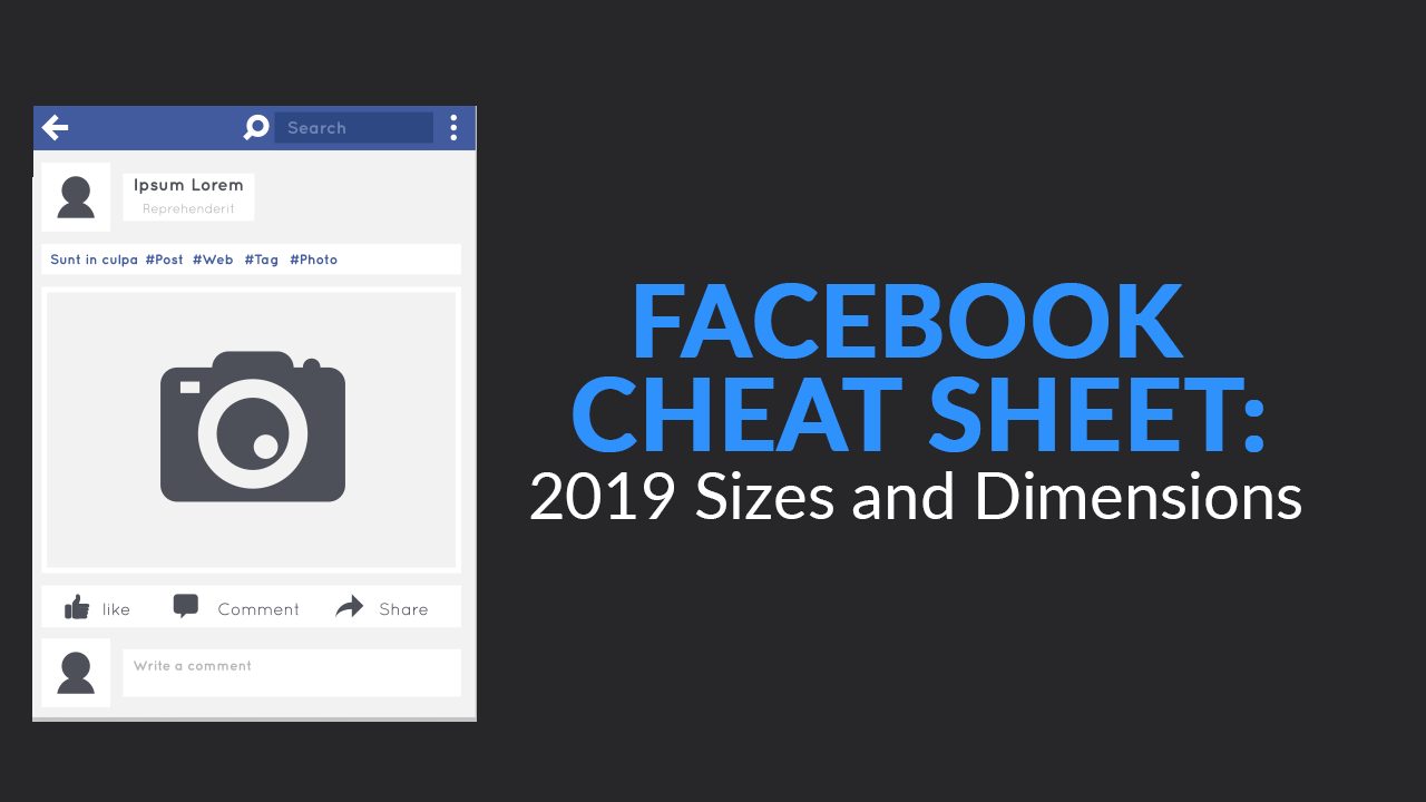 Facebook Cheat Sheet 2019 Sizes And Dimensions Skillslab