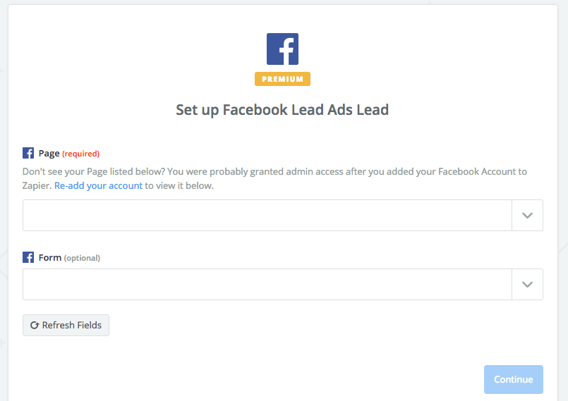 Facebook Lead Gen Form