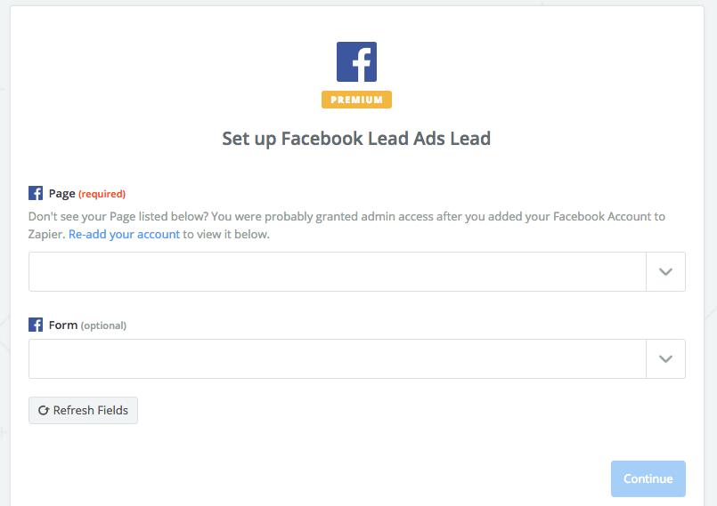 Facebook Lead Gen Form