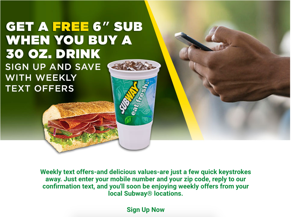 SMS Marketing Strategy at Subway
