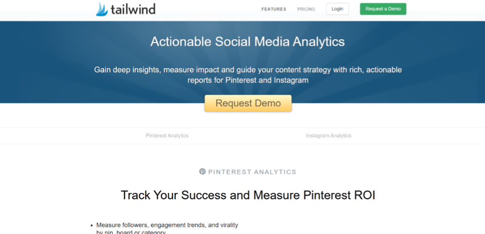 tailwind analytics tool for social media