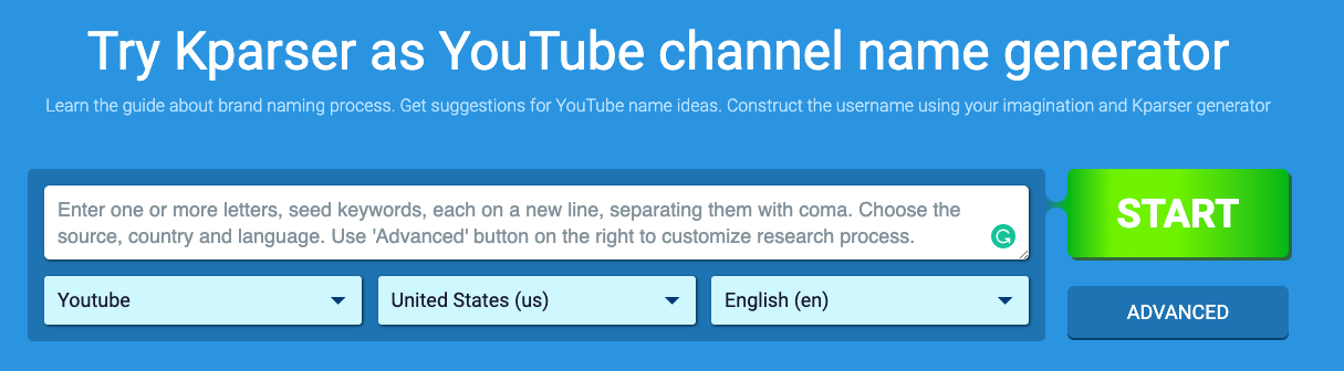 Kparser YouTube Channel Name Suggestions