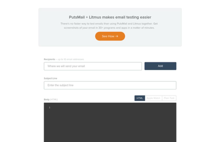 PutsMail Email Testing Tool