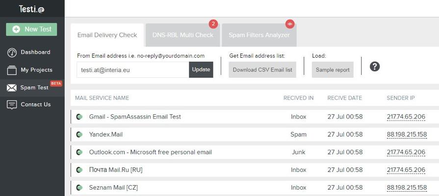 Testi@ Email Testing Tool
