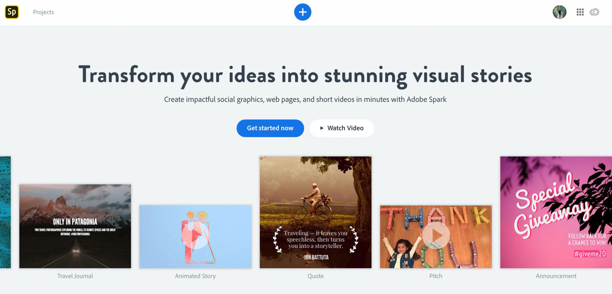 Adobe-Spark-Content-Creation-Tool