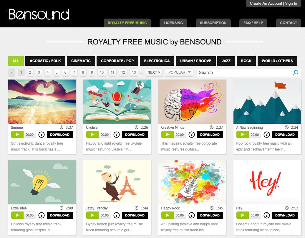 Bensound-non-copright-music