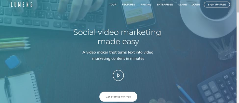 Lumen5-Social-media-video-apps