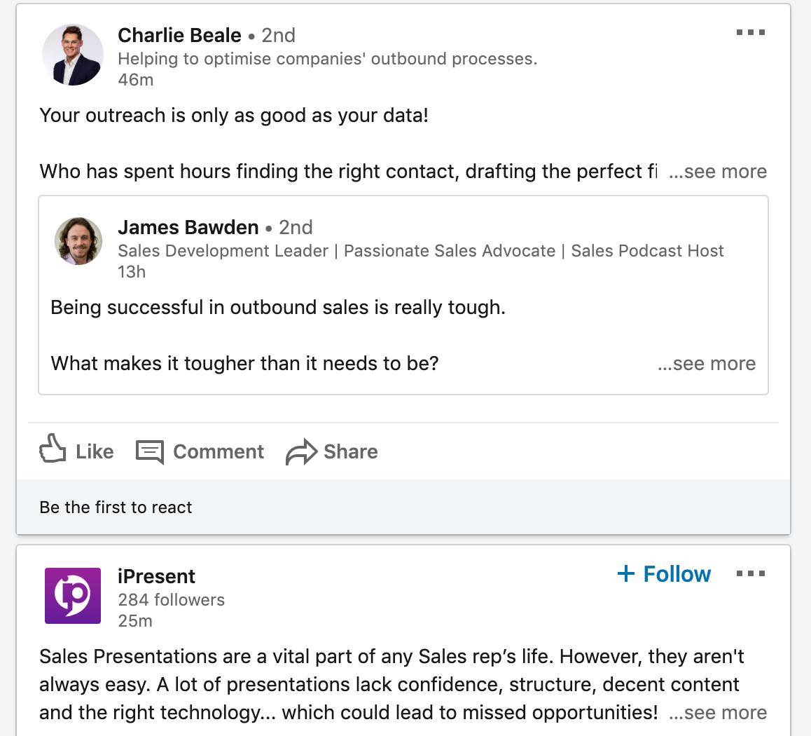 LinkedIn Sales App for Professionals
