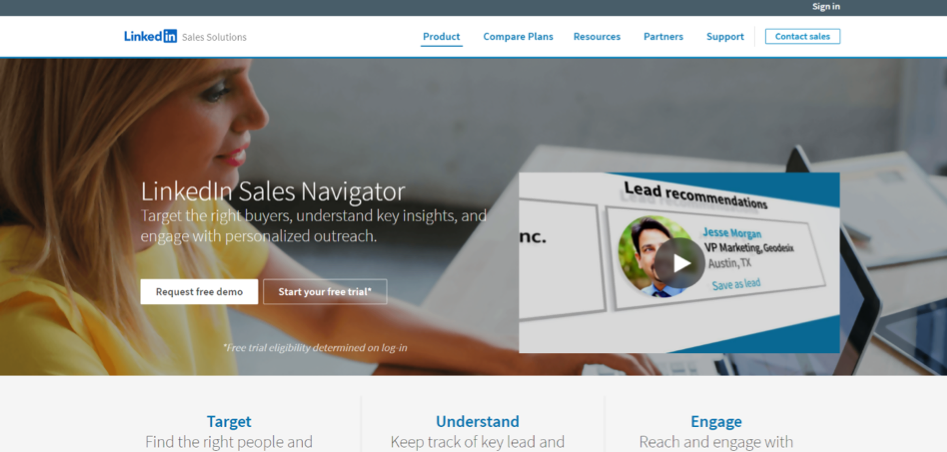LinkedIn Sales Navigator Sales App