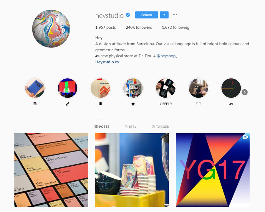 heystudio Instagram