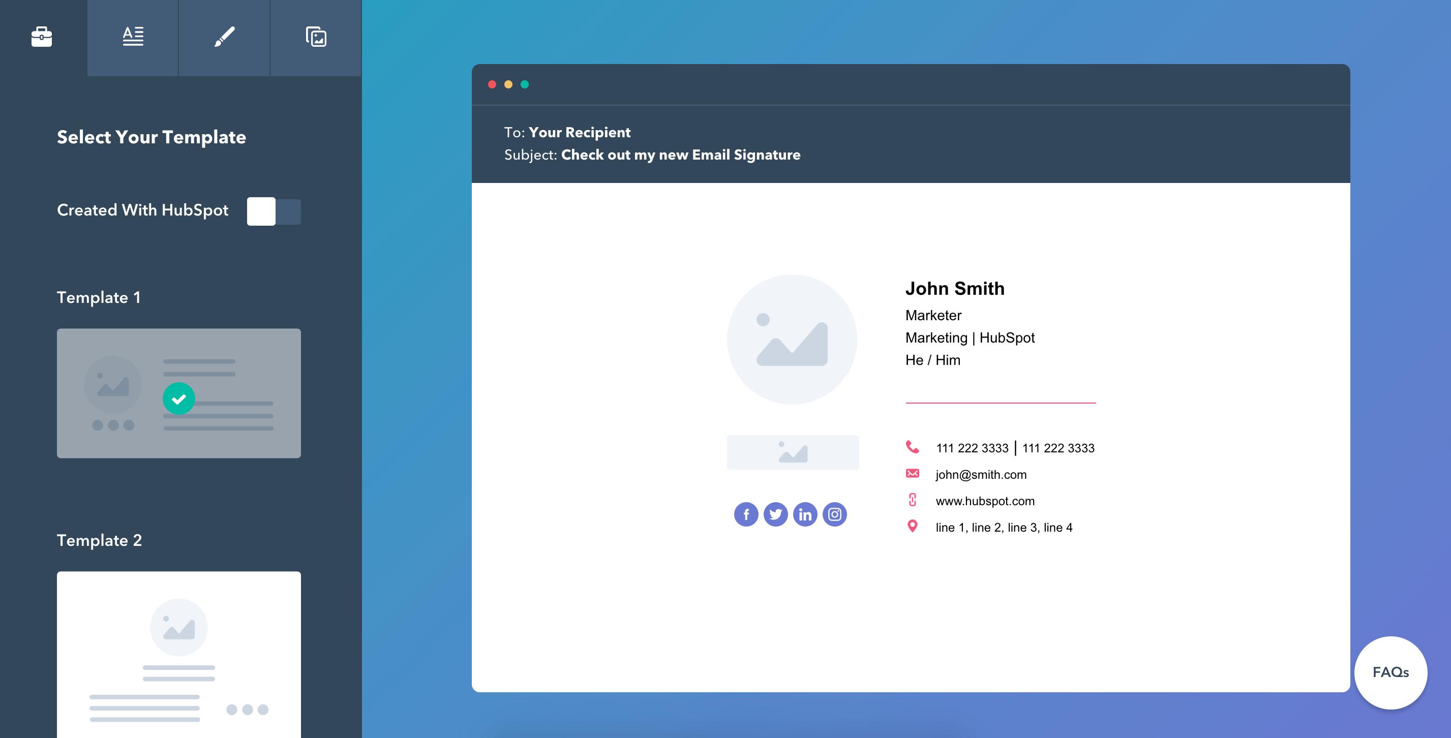 Email Signature Design Tools - HubSpot