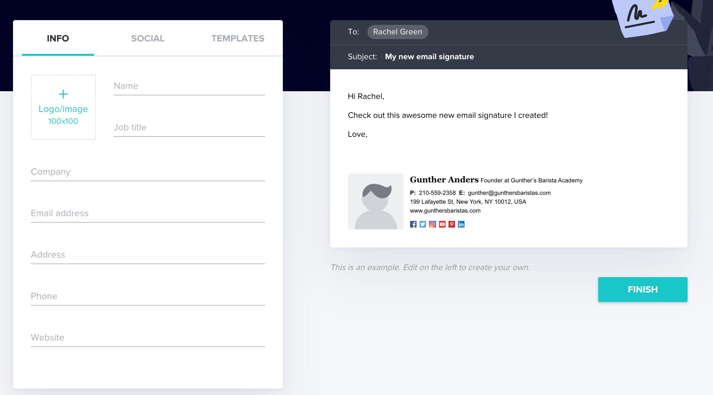 HoneyBook Email Signature Tool